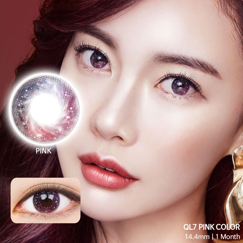 QL7 Pink colored contacts