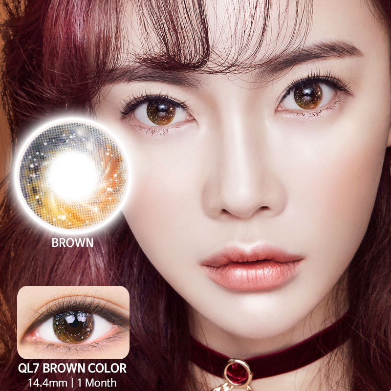 QL7 Brown colored contacts