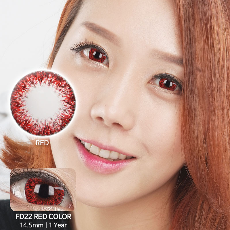 FD22 RED colored contacts