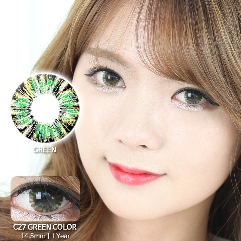 C27 GREEN colored contacts