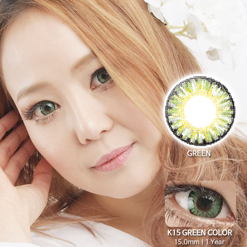 K15 GREEN colored contacts