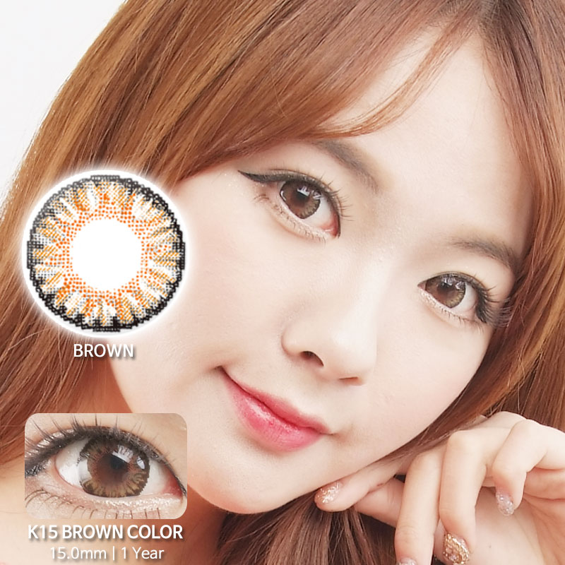 K15 BROWN colored contacts