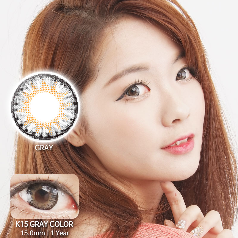 K15 GREY colored contacts