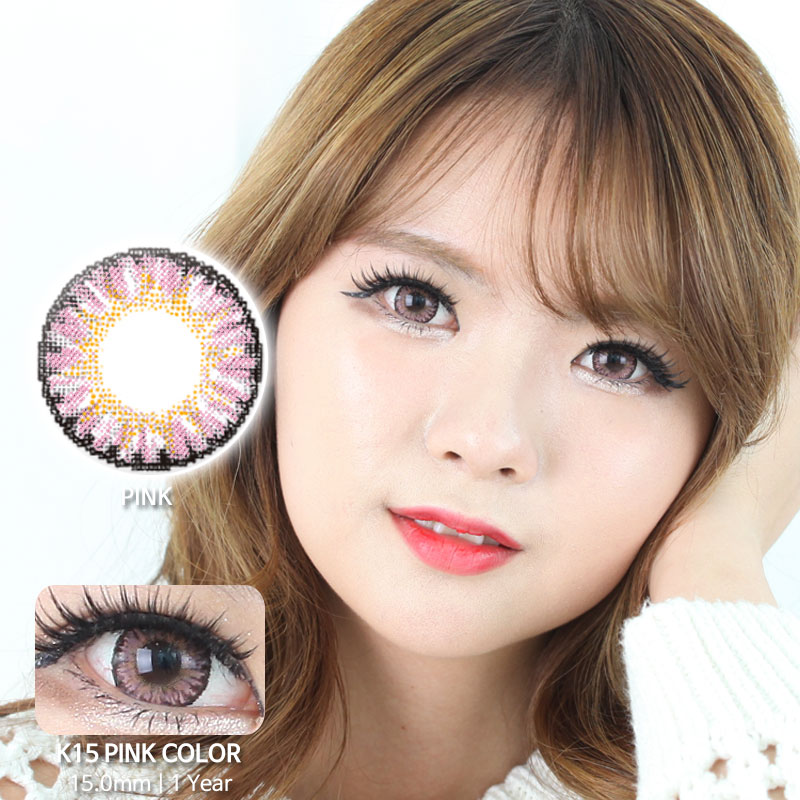 K15 PINK colored contacts
