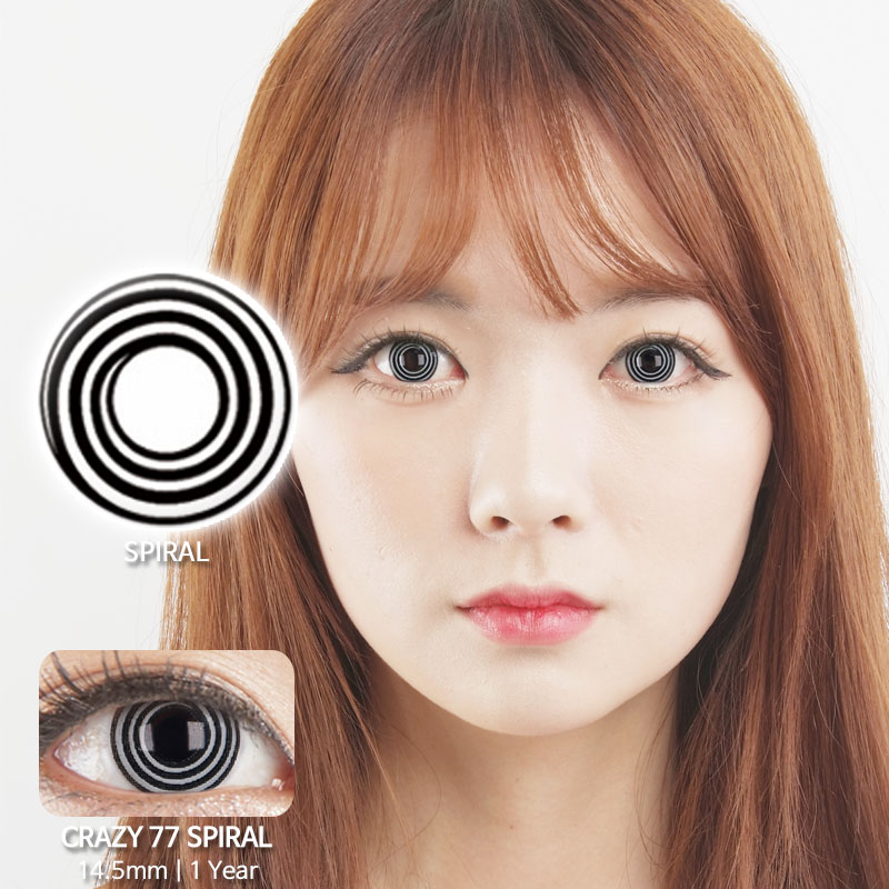 Spiral 77 colored contacts
