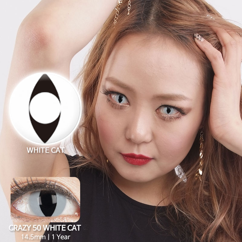 White cat 50 colored contacts