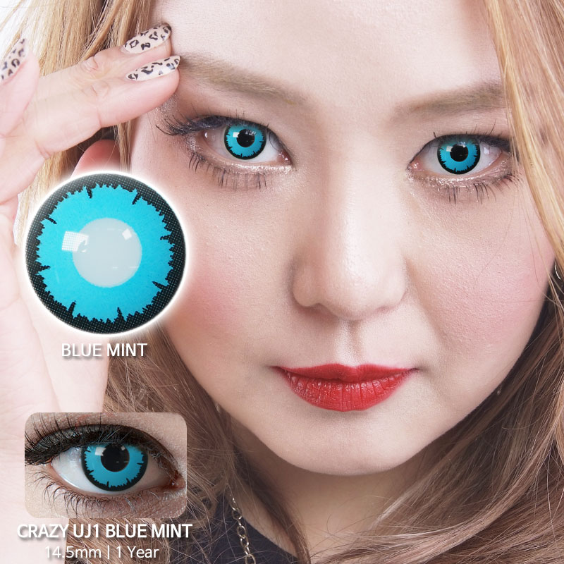 UJ1 Blue Mint colored contacts