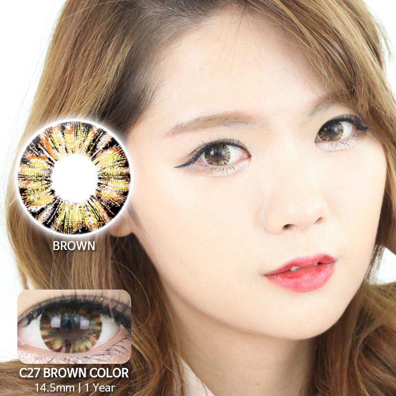 C27 BROWN colored contacts
