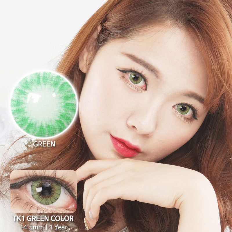 TK1 GREEN colored contacts