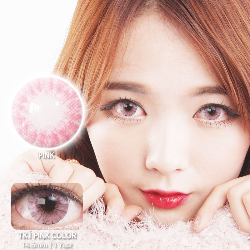 TK1 PINK colored contacts