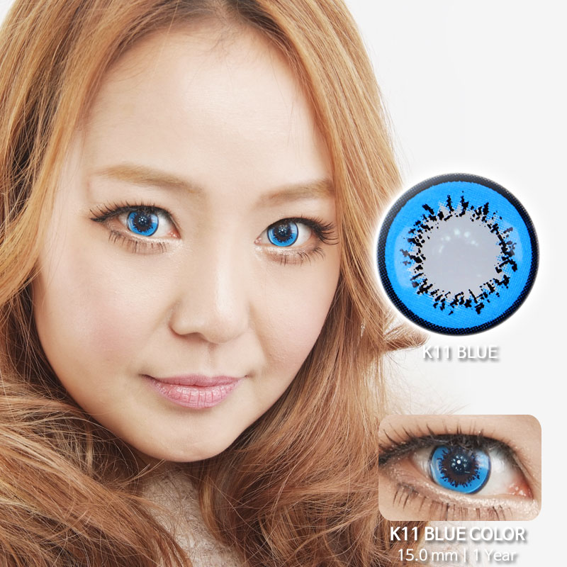 K11 BLUE colored contacts