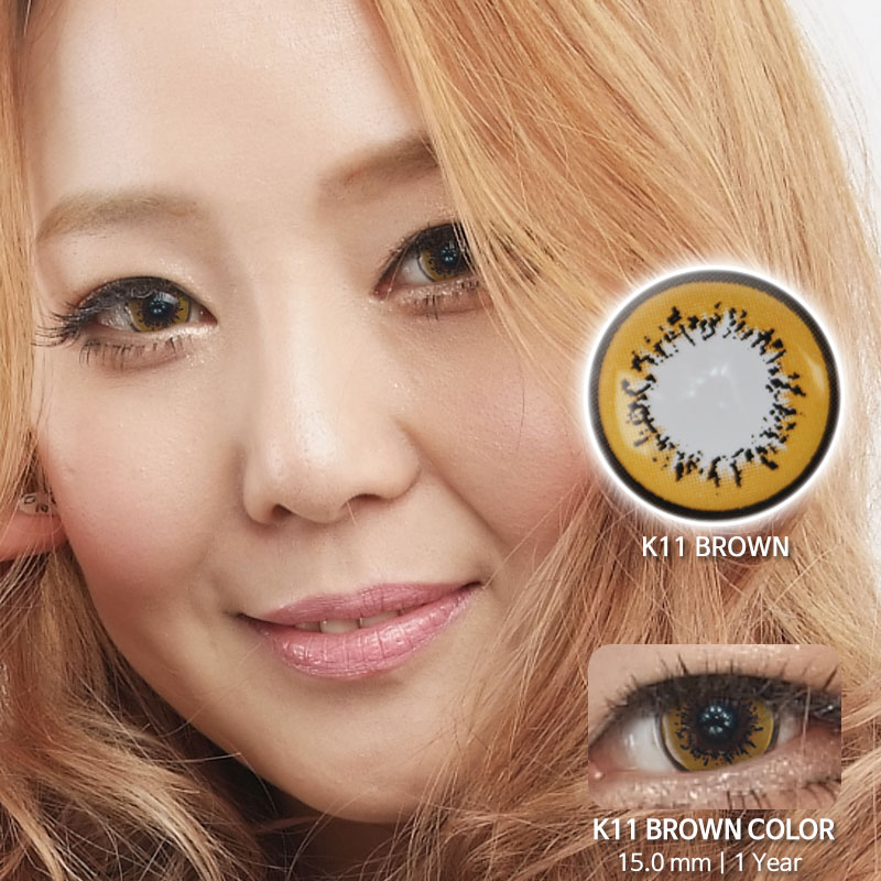 K11 BROWN colored contacts