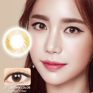 ST2 Brown colored contacts