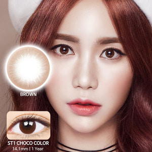ST1 Choco colored contacts
