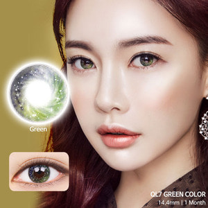 QL7 Green colored contacts