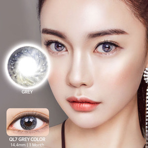 QL7 Gray colored contacts