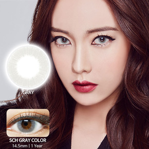 SCH Gray colored contacts