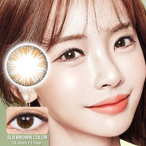 SLB Brown colored contacts