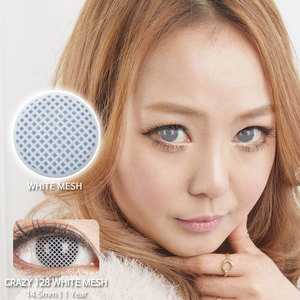 White Mesh colored contacts