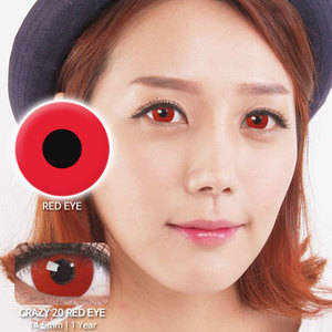 Red eye 20 colored contacts