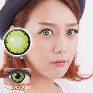 UJ21 Green colored contacts