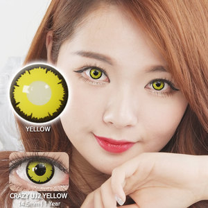 UJ2 Yellow colored contacts