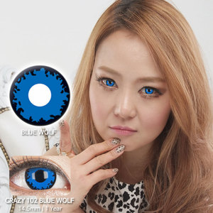 Blue Wolf 102 colored contacts