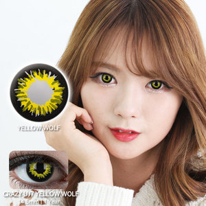 Yellow wolf colored contacts
