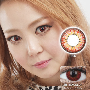 SB RED colored contacts