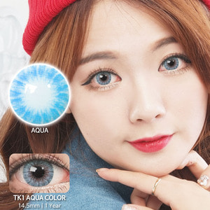 TK1 AQUA colored contacts
