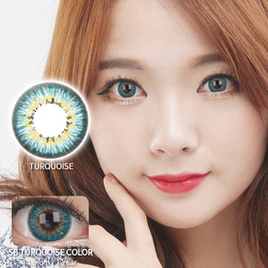 SB TURQUOISE colored contacts