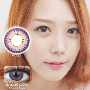 SB VIOLET colored contacts