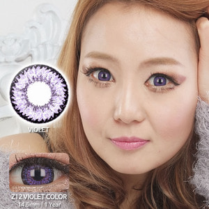 Z12 VIOLET colored contacts